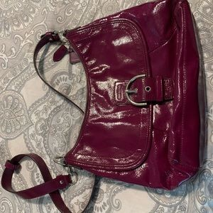 Coach crossbody purse purple